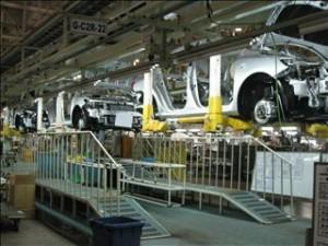 天津トヨタ工場の様子
