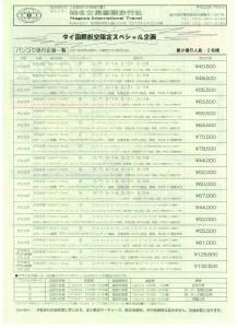 2011.01-03 バンコク スペシャルフリープラン3日間